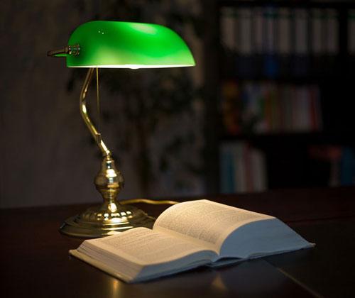 La clásica lámpara de banquero